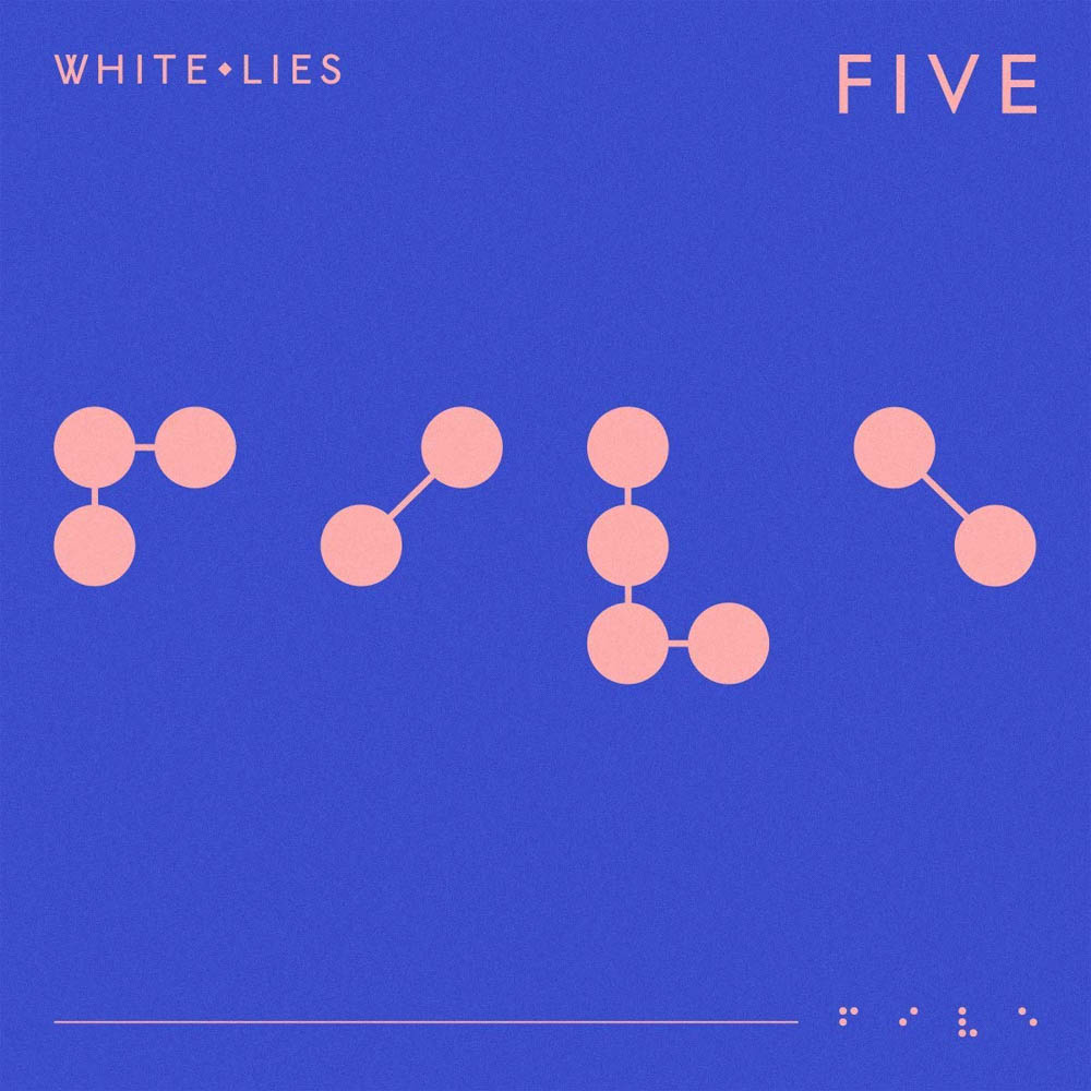 White-Lies-Five-Limited-Blue-Vinyl-LP-New-2019 miniatuur 2